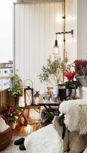 plantes sur un balcon ou une terrasse
