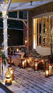 terrasse décorée pour noel